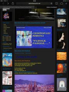 locandina mostra opere arte a Barcelona