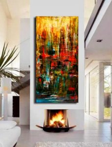 quadri moderni su tela