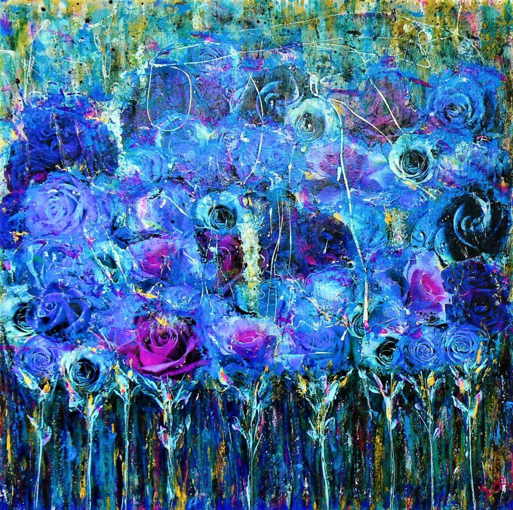 opere d'arte con fiori
