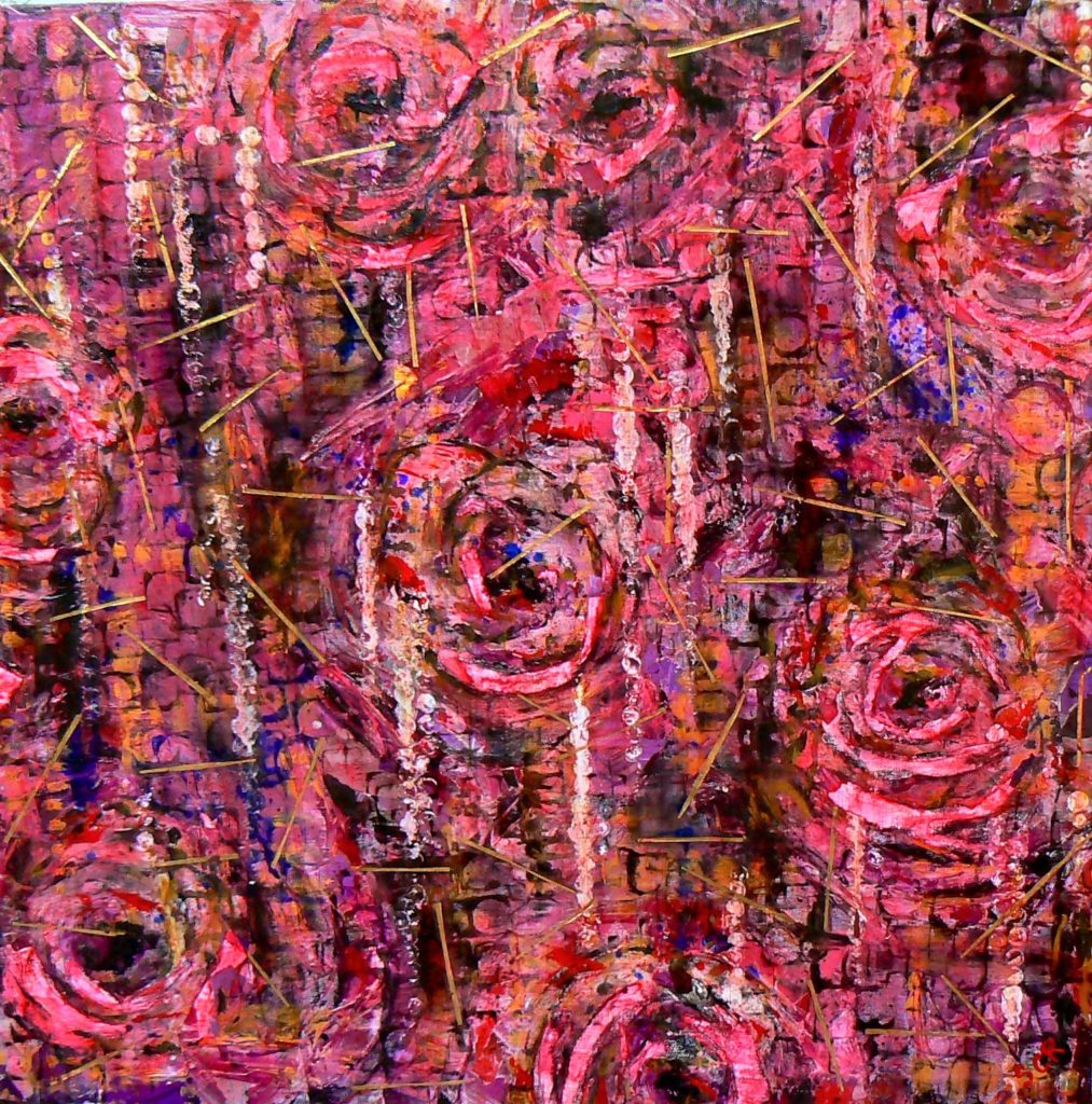 quadri astratti con fiori